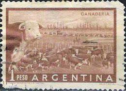 3944 Mi.Nr. 624 Argentinien (1958) Cattle Ranch (Ganaderia) Gestempelt - Gebruikt