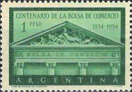 3945 Mi.Nr. 617 Argentinien (1954) Stock Exchange In Buenos Aires Gestempelt - Gebruikt