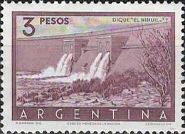 3946 Mi.Nr. 627 Argentinien (1956) Embankment Dam El Nihuil Ungebraucht - Gebruikt