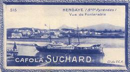 CHROMO CAFOLA SUCHARD HENDAYE VUE DE FONTARABIE CL DU T.C.F. - Suchard