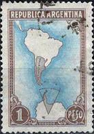 3948 Mi.Nr. 426 Argentinien (1952) South America Map With Borderlines Gestempelt - Gebruikt