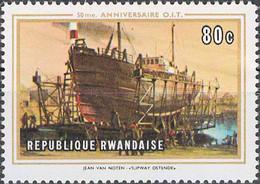 3972 Mi.Nr. 362 Ruanda (1969) Slipway At Ostende By Jean Van Noten Ungebraucht - 1962-69: Mint/hinged