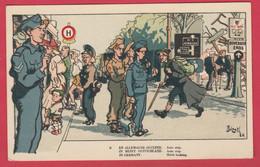 WW2 -En Allemagne Occupée - Carte Humoristique Illustrée Par Bizet - 1 ( Voir Verso ) - War 1939-45