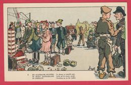 WW2 -En Allemagne Occupée - Carte Humoristique Illustrée Par Bizet - 2 ( Voir Verso ) - War 1939-45