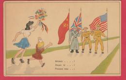 WW2 - Les Alliés - Merci ...! / Dan U ...! / Thank You ... ! ( Voir Verso ) - War 1939-45