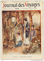 """""""Haka-Ba"""", Cimetière Japonais - Page Original En Couleur 1909 - Estampas & Grabados"""