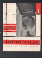 (scoutisme)  Epreuves De Classe   (les Scouts De France)  Illustr Pierre Joubert (PPP30635) - Scoutisme