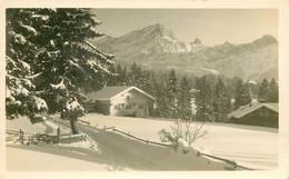 Photo Cpa Suisse VILLARS. Chalets Sous La Neige 1926 - VD Waadt