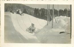 Photo Cpa Suisse VILLARS SUR OLLON. Descente En Bobsleigh Ou Luge 1926 - VD Waadt