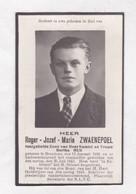 *  OORLOGSSLACHTOFFER R.ZWAENEPOEL °BREDENE 1921  +1942 (B.MUS) - Devotion Images