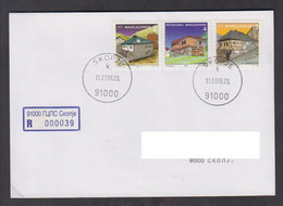 REPUBLIC OF MACEDONIA, R-COVER, MICHEL 86, 117, 88 - Arhitecture, Geography + - Macedonia