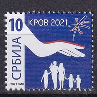 SERBIA 2021,KROV,SURCHARGE ,ADITIONAL STAMP,,MNH - Serbia