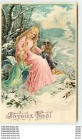 N°10548 - Carte Fantaisie Gaufrée - Joyeux Noël - Ange Et Angelots - Altri