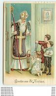 N°7392 - Carte Fantaisie Gaufrée - Groeten Van St Nicolaas - Saint Nicolas - Saint-Nicolas