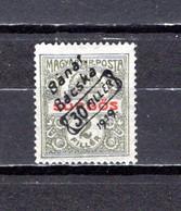 Hungría  (Banat-Bacska)  1919 .-   Y&T  Nº   41 - Banat-Bacska