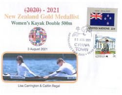 (WW 11 A) 2020 Tokyo Summer Olympic Games - New Zealand Gold Medal - 3-08-2021 - Women's Kayak Double 500m - Eté 2020 : Tokyo