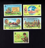 1323579481 1982 SCOTT 207 211 (XX) 6OSTFRIS  MINT NEVER HINGED EINWANDFREI  (XX) - SCOUTING YEAR - Isla De Man