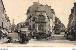 D56  LORIENT  Fontaine Monumentale Rue Du Morbihan Et Paul Bert ........Tramway Avec Pub Louit  . Tram - Lorient