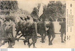 GUERRE 1914- 1918  WW1  Infanterie Indienne Arborant Le Drapeau Tricolore   ... - Guerre 1914-18