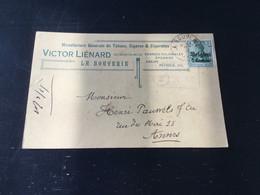 Belgique : N°OC2 Sur Carte à En-tête : Victor Lienard , à La Bouverie - Other