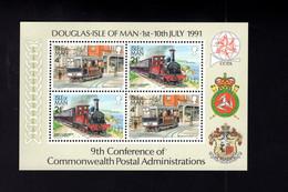 1323579961 1992 SCOTT 458A (XX) 6OSTFRIS  MINT NEVER HINGED EINWANDFREI  (XX) - STEAM TRAINS - Isla De Man
