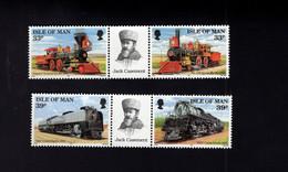 1323580864 1992 SCOTT 515A  517A (XX) 6OSTFRIS  MINT NEVER HINGED EINWANDFREI  (XX) - STEAMTRAINS LABEL CASEMENT JULES - Isla De Man
