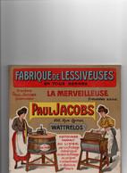 Wattrelos Plaque Publicitaire Jacobs Carton Glacé Sur Platre - Non Classés