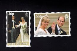 1323582625 1999 SCOTT 837A 837B  (XX) 6OSTFRIS  MINT NEVER HINGED EINWANDFREI  (XX) - ROYAL WEDDING - Isla De Man