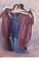 ART DÉCO / ROMANTIC : APRÈS LE BAL / AFTER THE BALL - ARTIST SIGNED : A. SALVARANI ~ 1905 - '910 (ah837) - Ohne Zuordnung