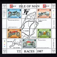 1323584311 1987 SCOTT 339A  (XX) 6OSTFRIS  MINT NEVER HINGED EINWANDFREI  (XX) -MOTORCYCLE RACES - Isla De Man