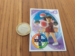 "Carte Playmobil 2021 Geobra ""N°34 - CHEERLEADING"" - Other"
