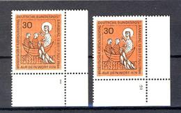 515 Katholikentag 1966: 2 Ecken Mit FN 1 Und FN 2 ** - Non Classés