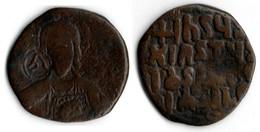 EMPIRE BYZANTIN Follis BUSTE DU CHRIST DE FACE - Byzantines