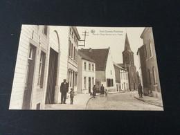 CP Ancienne Neuve De Sart-Dames-Avelines : Rue De L'ange Gardien Et Poste - Villers-la-Ville