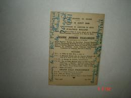 Lundi 15 Aout 1949.Cinquantenaire Erection Buste A.Roland.BAGNERES DE BIGORRE - Inaugurazioni