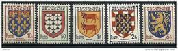 """FR YT 899 à 903 """" Armoiries De Provinces """" 1951 Neuf** - Ongebruikt"""
