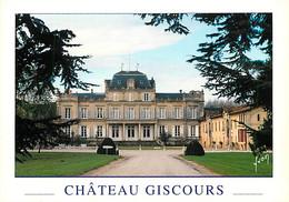 Chateaux - Château Giscours - Grand Cru Classé En 1855 (Margaux) - Gironde - Médoc - CPM - Carte Neuve - Voir Scans Rect - Kastelen