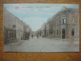 AWANS BIERSET ( Grâce-Hollogne ) - Rue De La Station ( Colorée ) --- 1925 - Awans