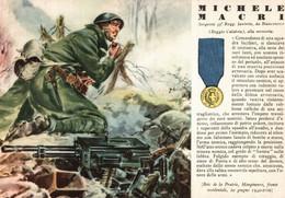 CPA - WW2 WWII Propaganda - MEDAGLIA D'ORO (44) - 53° Reggimento Fanteria - Michele Macri Da Bianconovo - NV - WN131 - War 1939-45
