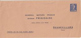 "FRANCE : ENTIER POSTAL . 20 F . TYPE MULLER . EP TSC . "" GENERAL MOTORS GENNEVILLIERS   "" . 1957 . - Buste Postali E Su Commissione Privata TSC (ante 1995)"