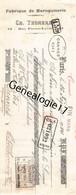 75 24566 PARIS SEINE 1914 Fabrique Maroquinerie CH. THOMERET Rue Pierre Levee Avenue Republique Dest GAREL - Bills Of Exchange