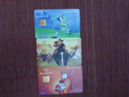 Disney Mulan 3 Phonecards Rare - Disney