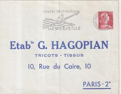 "FRANCE : ENTIER POSTAL . 0.25 . TYPE MULLER . EP TSC . "" HAGOPIAN PARIS 2 "" . 1960 . OBL . - Sobres Tipos Y TSC (antes De 1995)"