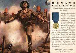 CPA - WW2 WWII Propaganda - MEDAGLIA D'ORO (52) - 64° Battaglione Coloniale - Renato Coletta Da Barletta - NV - WN133 - War 1939-45