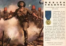 CPA - WW2 WWII Propaganda - MEDAGLIA D'ORO (52) - 64° Battaglione Coloniale - Renato Coletta Da Barletta - NV - WN134 - War 1939-45