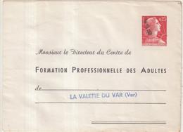 """FRANCE : ENTIER POSTAL . 0.25 . TYPE MULLER . EP TSC . """" FORMATION PRO DES ADULTES  """" . 1960 . OBL . - Sobres Tipos Y TSC (antes De 1995)"""