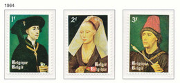 D - [150271]SUP//**/Mnh-[1300/02] Belgique 1964, Roger Van Der Weyden, Dit Roger De La Pasture, Art, Tableaux, SNC - Andere
