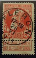 Belgique  Oblitération Fleron Sur COB N°74 V1 Mois Romain - 1905 Barbas Largas