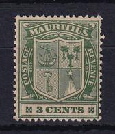 Mauritius: 1921/26   Badge    SG208     3c    MH - Mauritius (...-1967)