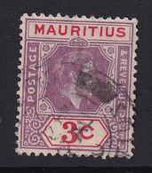 Mauritius: 1938/49   KGVI    SG253     3c  Reddish Purple & Scarlet   Used - Mauritius (...-1967)